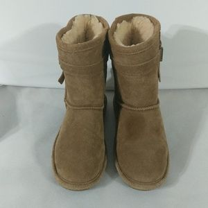 BearPaw Val Youth Hickory Brown Boots - size 2(y)